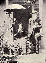 Sarah Joiner (seated) and David Belden Lyman image. Click for full size.