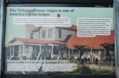 The Volcano House reigns as one of America's great lodges Marker image. Click for full size.