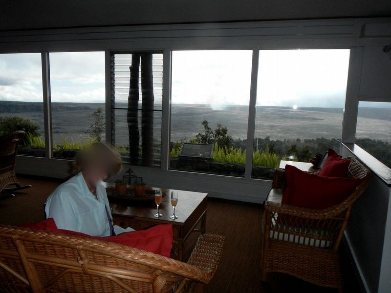 View of Kilauea from the Lounge image. Click for full size.