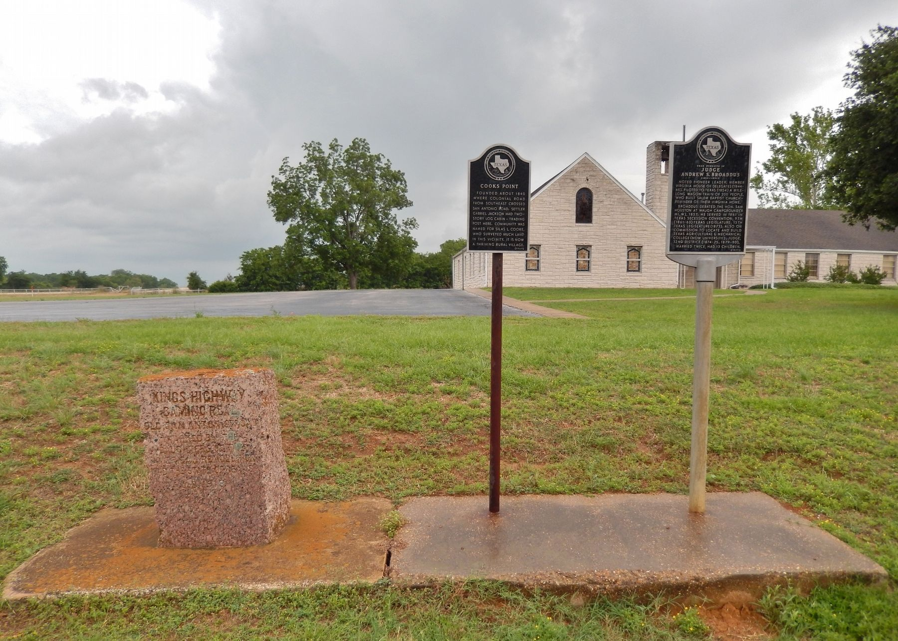 Near Homesite of Judge Andrew S. Broaddus Marker (<i>wide view showing adjacent markers</i>) image. Click for full size.