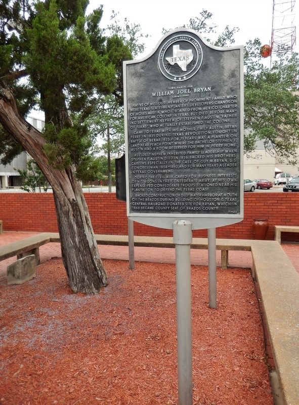 Town Named for William Joel Bryan Marker (<i>tall view</i>) image. Click for full size.
