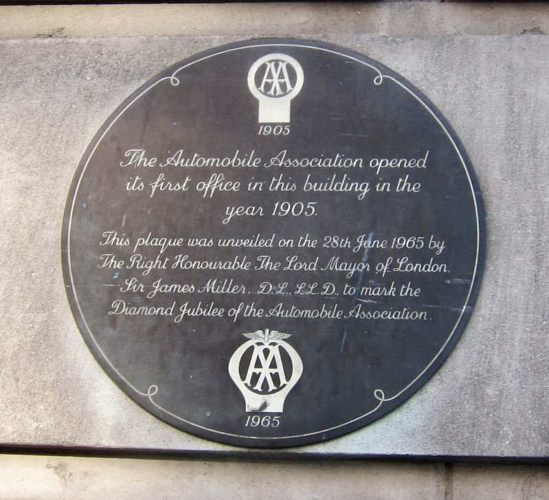 Automobile Association Marker image. Click for full size.