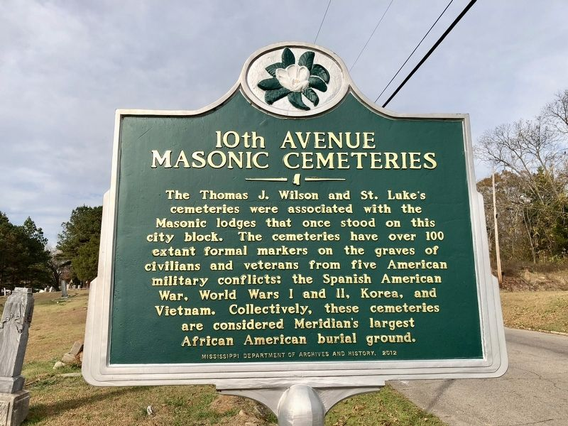 10th Avenue Masonic Cemeteries Marker image. Click for full size.
