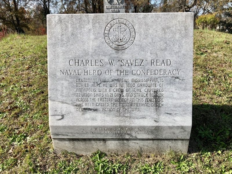 "Charles W. ""Savez"" Read monument image. Click for full size."