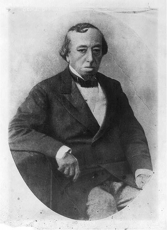 Benjamin Disraeli (Image courtesy of the Library of Congress) image. Click for full size.