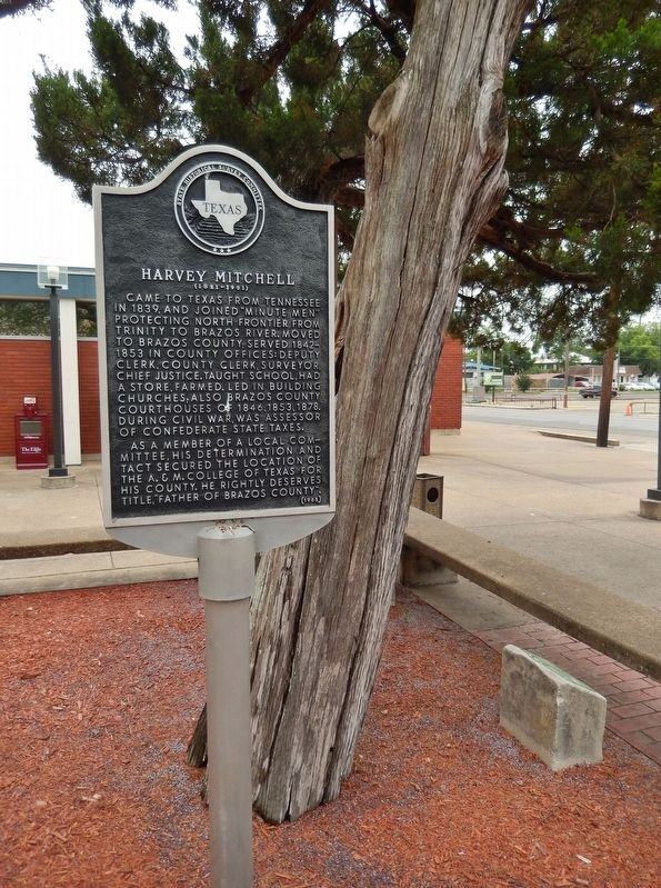 Harvey Mitchell Marker (<i>tall view</i>) image. Click for full size.