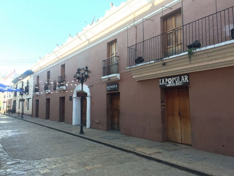 A wide view of both Mazariegos House markers and buildings image. Click for full size.