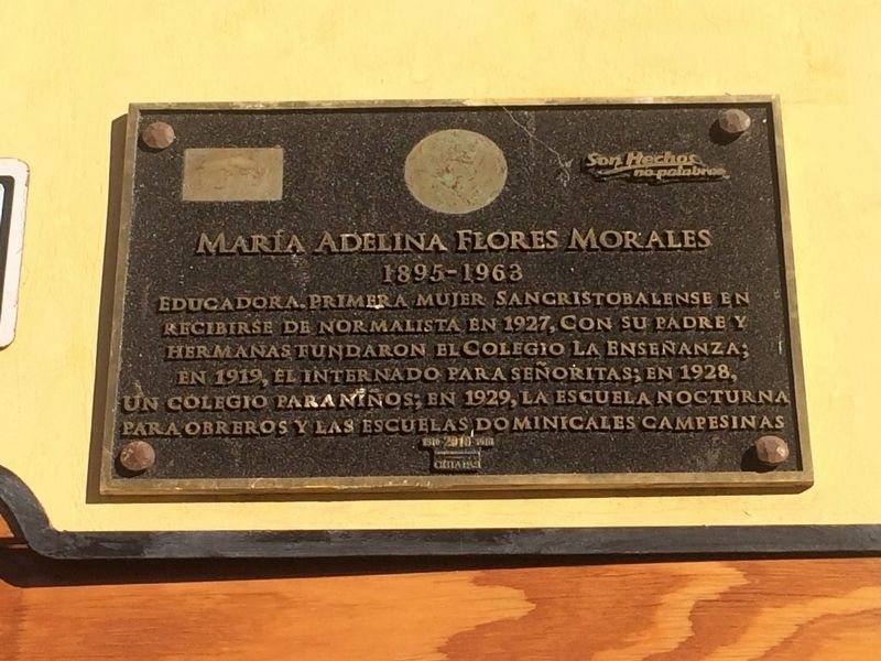 María Adelina Flores Morales Marker image. Click for full size.