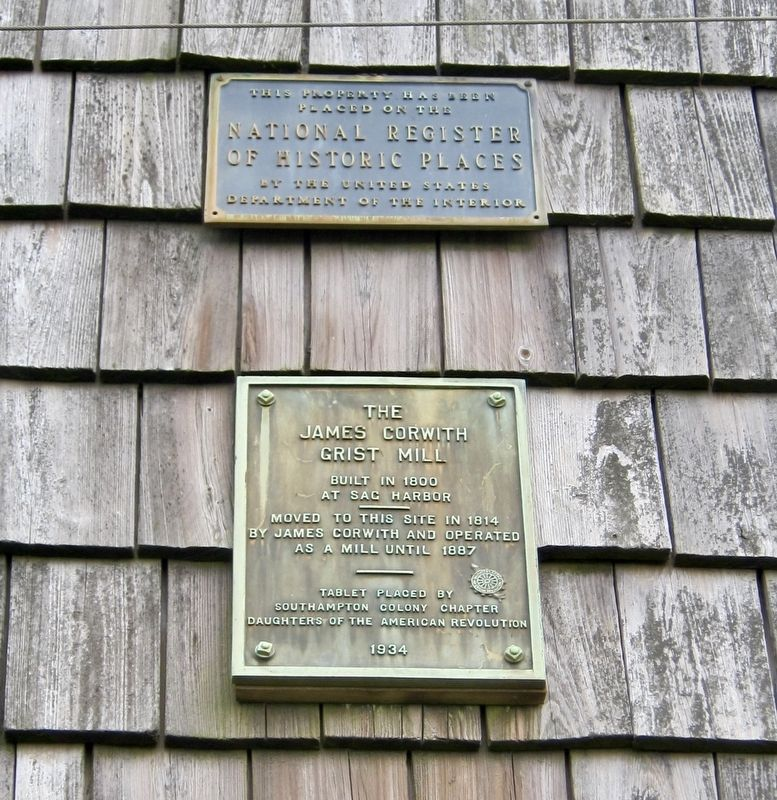 The James Corwith Grist Mill Marker image. Click for full size.