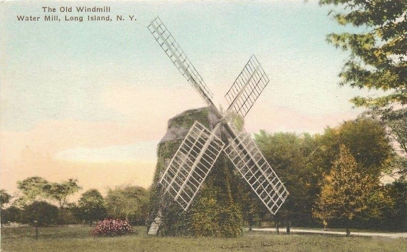 <i>The Old Mill, Water Mill, Long Island, N.Y.</i> image. Click for full size.