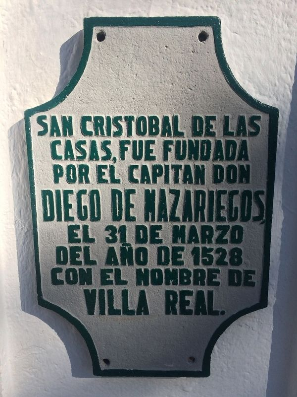 The History of San Cristóbal de las Casas Marker image. Click for full size.