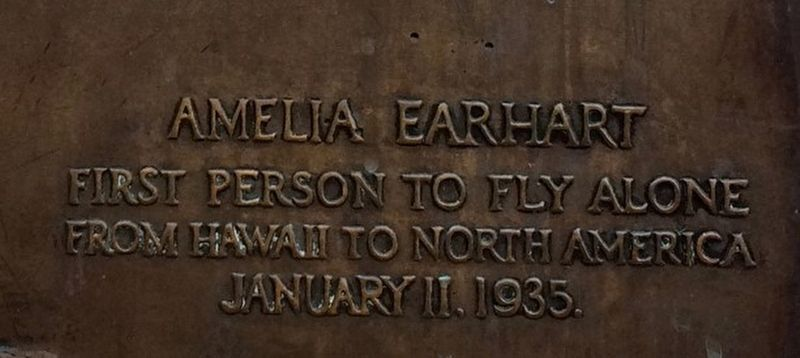 Amelia Earhart Marker image. Click for full size.