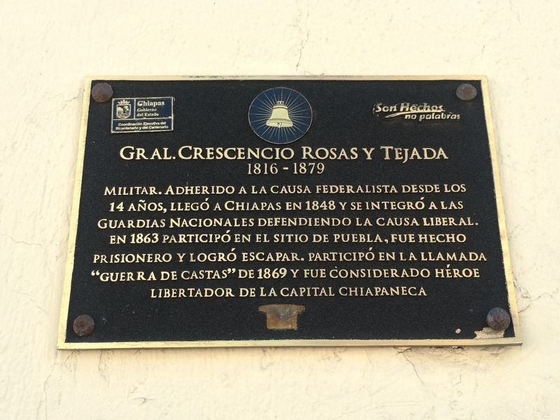 General Crescencio Rosas y Tejada Marker image. Click for full size.