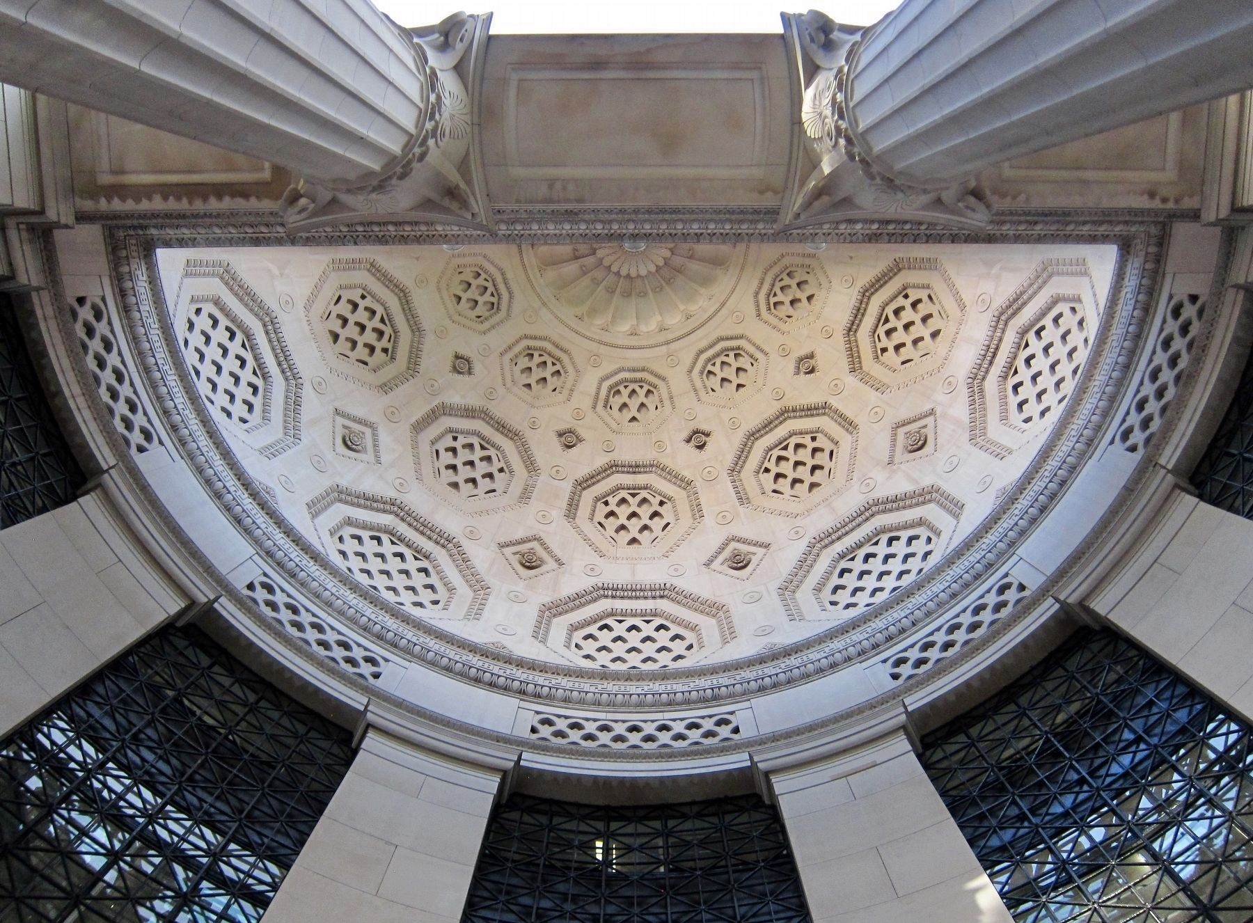 Bush House - The Exedra Semi-dome. image. Click for full size.