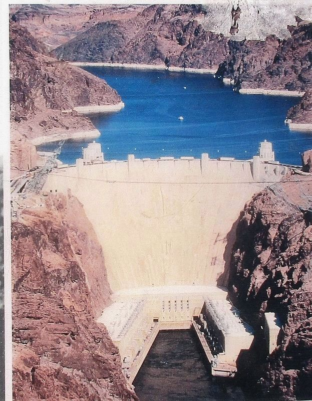 Hoover Dam Pictured on the Marker image. Click for full size.