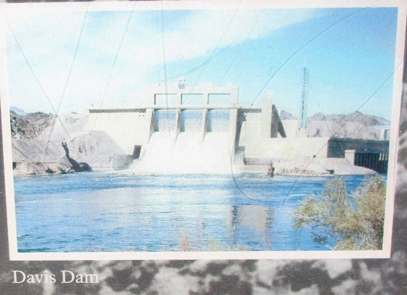 Davis Dam Pictured on the Marker image. Click for full size.
