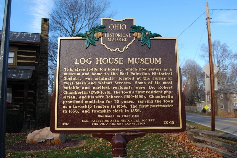 Log House Museum Marker image. Click for full size.