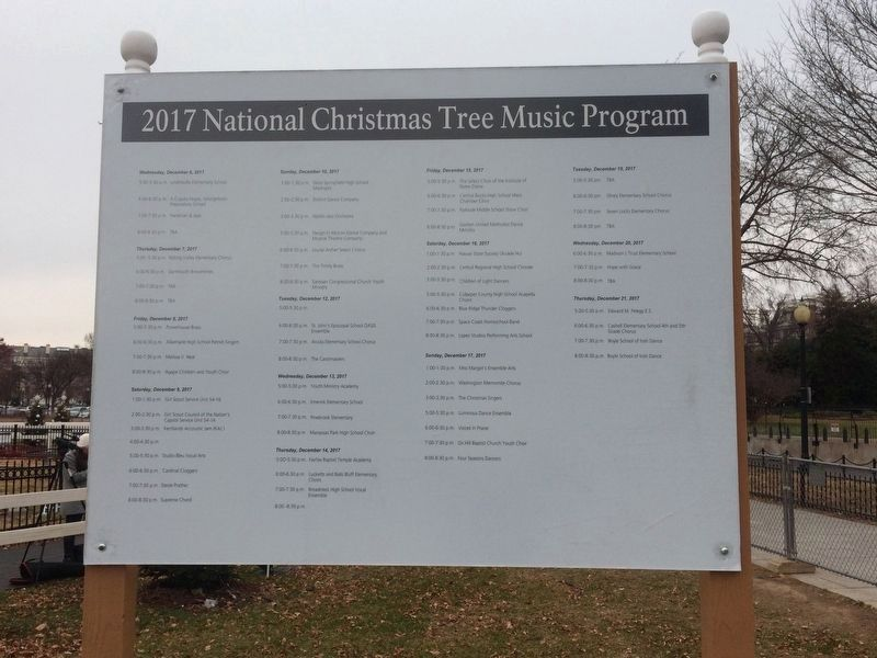 2017 National Christmas Tree Music Program image. Click for full size.