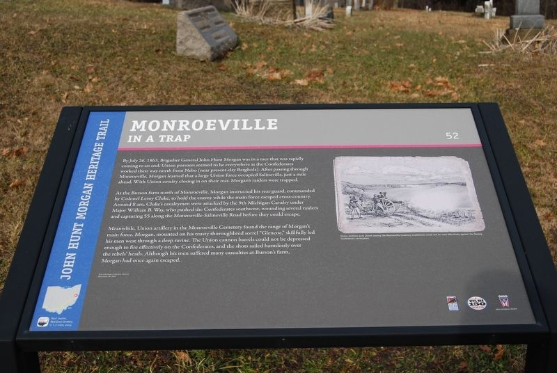 Monroeville-In A Trap Marker image. Click for full size.