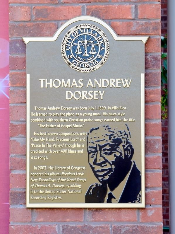 Thomas Andrew Dorsey Marker image. Click for full size.