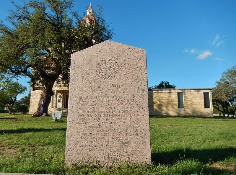Camp Montel C.S.A. / Texas Civil War Frontier Defense Marker Marker (<i>wide view</i>) image. Click for full size.