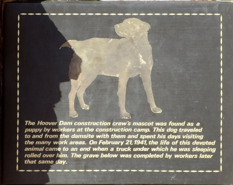 The Hoover Dam Construction Mascot Marker image. Click for full size.