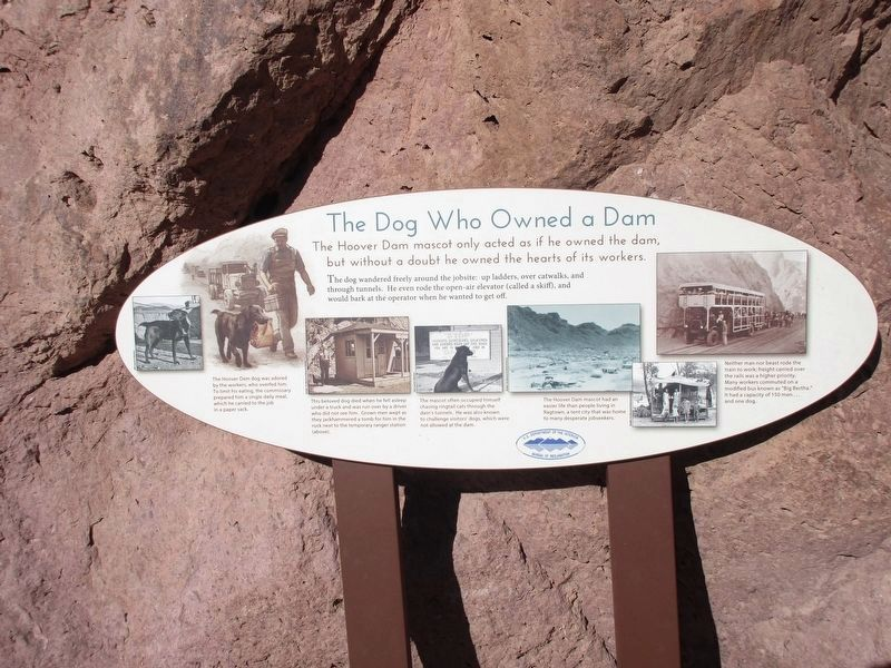 The Dog Who Owned a Dam Marker image. Click for full size.