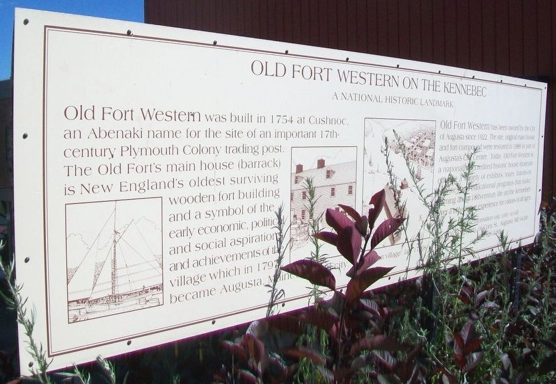 Old Fort Western on the Kennebec Marker image. Click for full size.