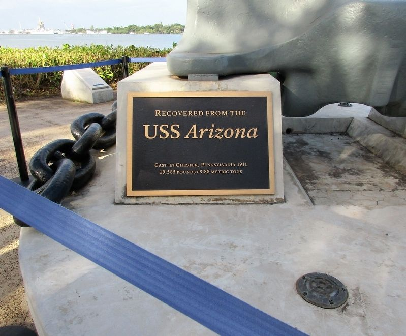 USS Arizona Anchor Marker image. Click for full size.