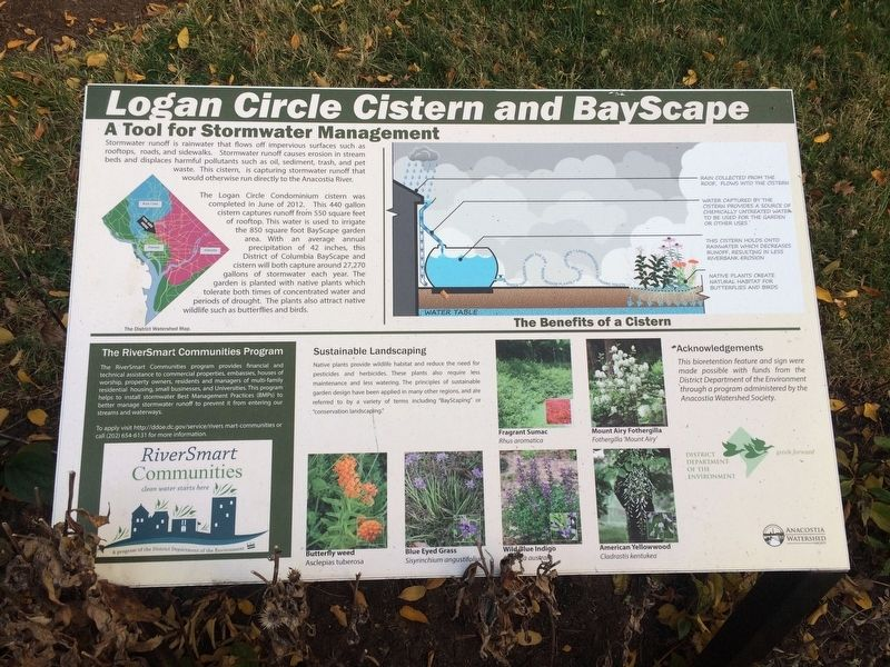 Logan Circle Cistern and BayScape Marker image. Click for full size.