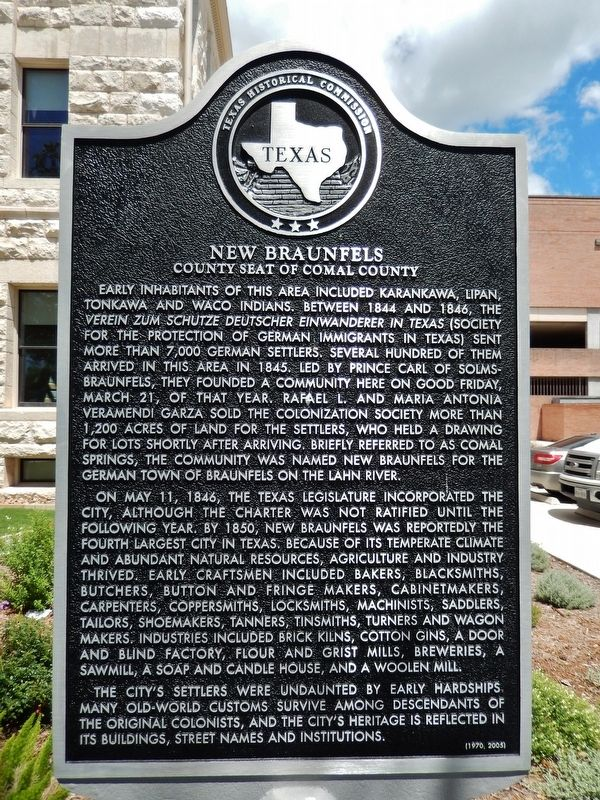 New Braunfels Marker image. Click for full size.