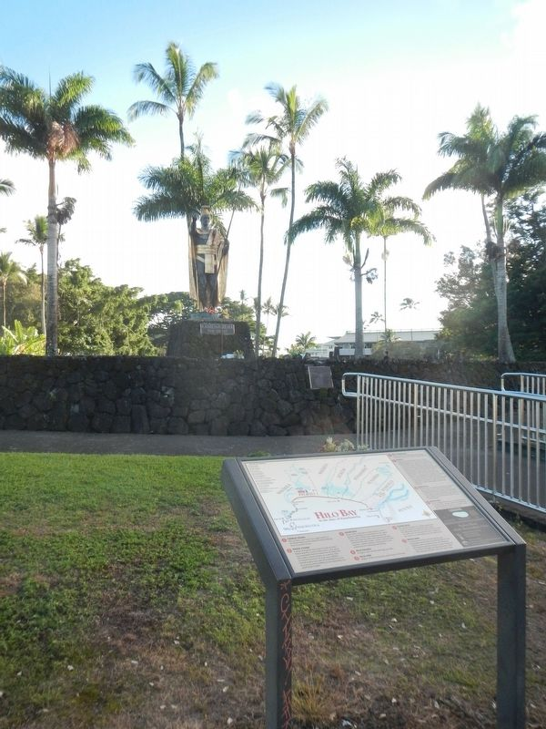 Hilo Bay: In the days of Kamehameha Marker image. Click for full size.