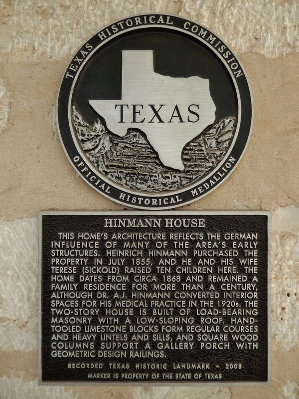 Hinmann House Marker image. Click for full size.