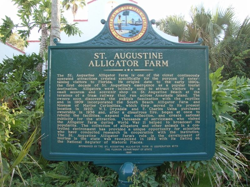 St. Augustine Alligator Farm Marker image. Click for full size.