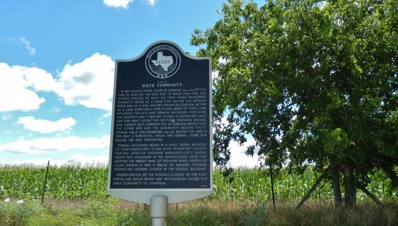 Site of Dietz Community Marker (<i>wide view</i>) image. Click for full size.