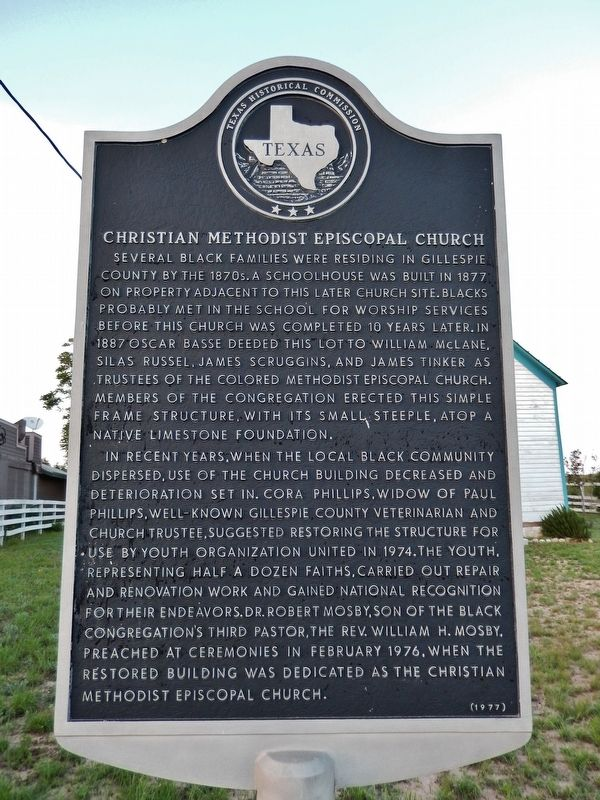 Christian Methodist Episcopal Church Marker image. Click for full size.