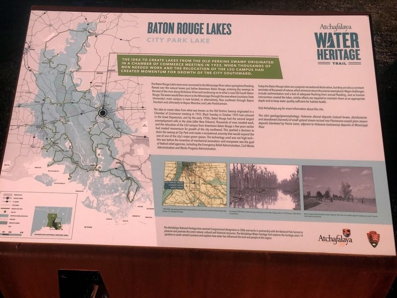 Baton Rouge Lakes Marker image. Click for full size.
