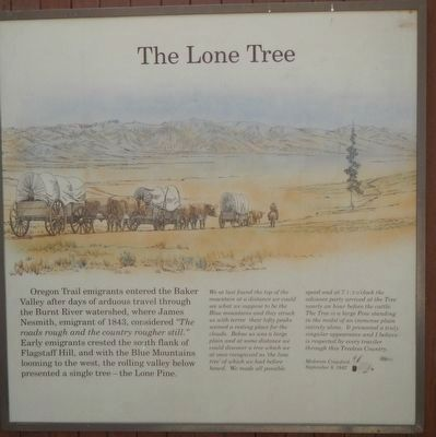 The Lone Tree panel image. Click for full size.