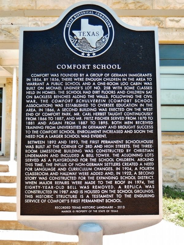Comfort School Marker image. Click for full size.