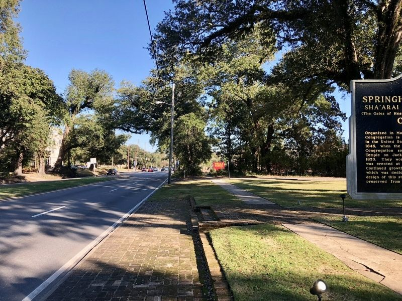 View from marker looking east on Springhill Avenue. image. Click for full size.