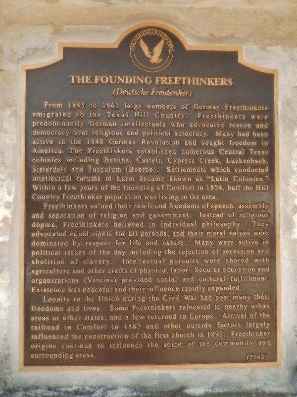 The Founding Freethinkers Marker image. Click for full size.