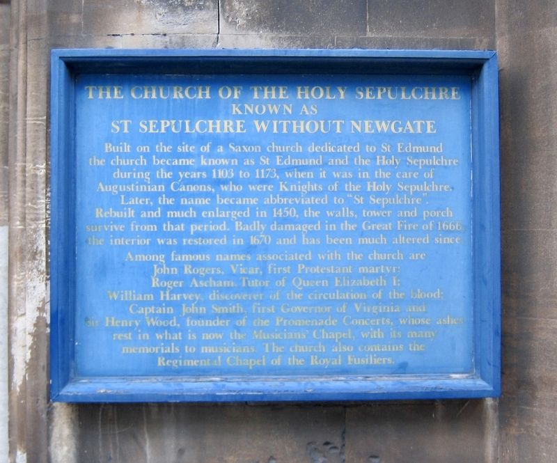 The Church of the Holy Sepulchre Marker image. Click for full size.