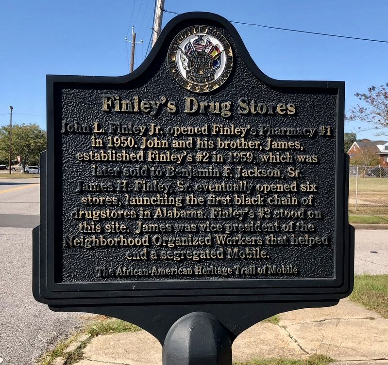 Finley's Drug Stores Marker image. Click for full size.