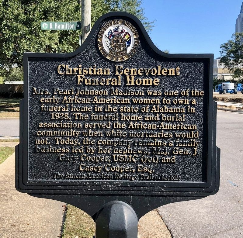 Christian Benevolent Funeral Home Marker image. Click for full size.