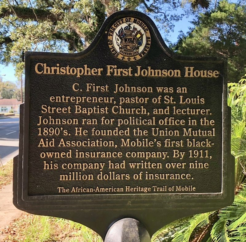 Christopher First Johnson House Marker image. Click for full size.