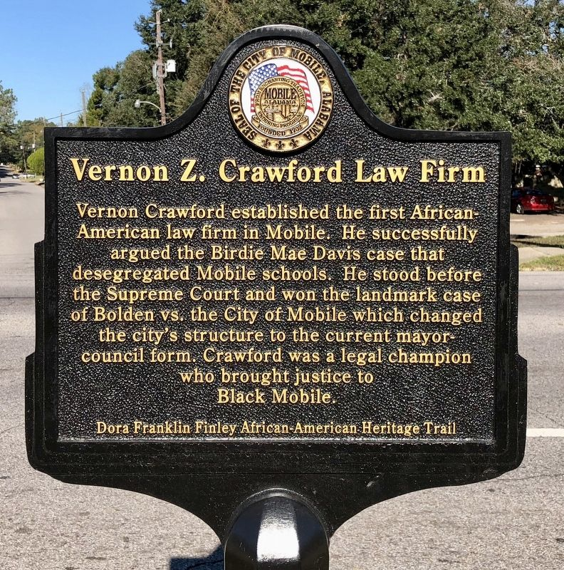 Vernon Z. Crawford Law Firm Marker image. Click for full size.