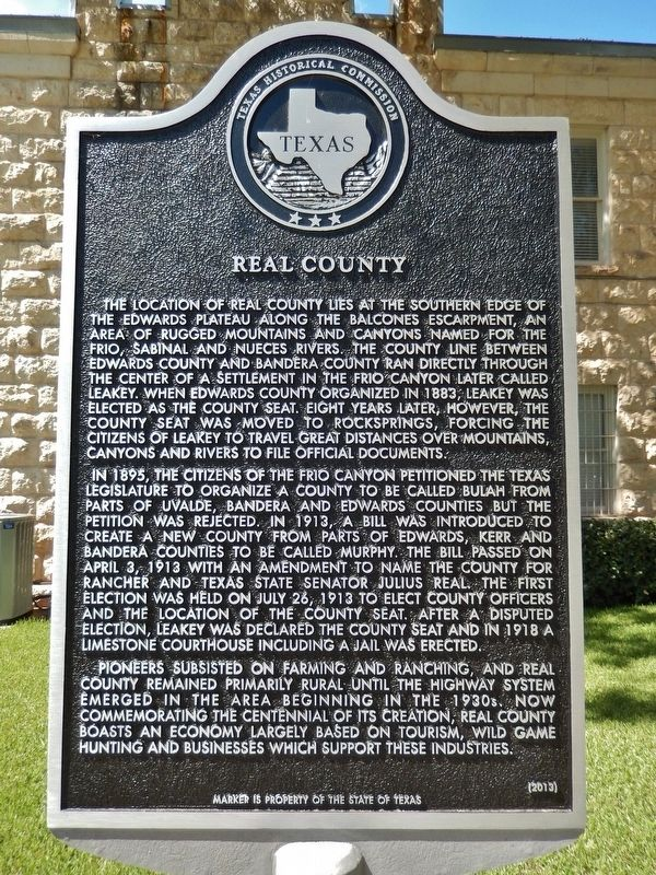 Real County Marker image. Click for full size.