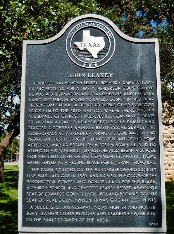 John Leakey Marker image. Click for full size.