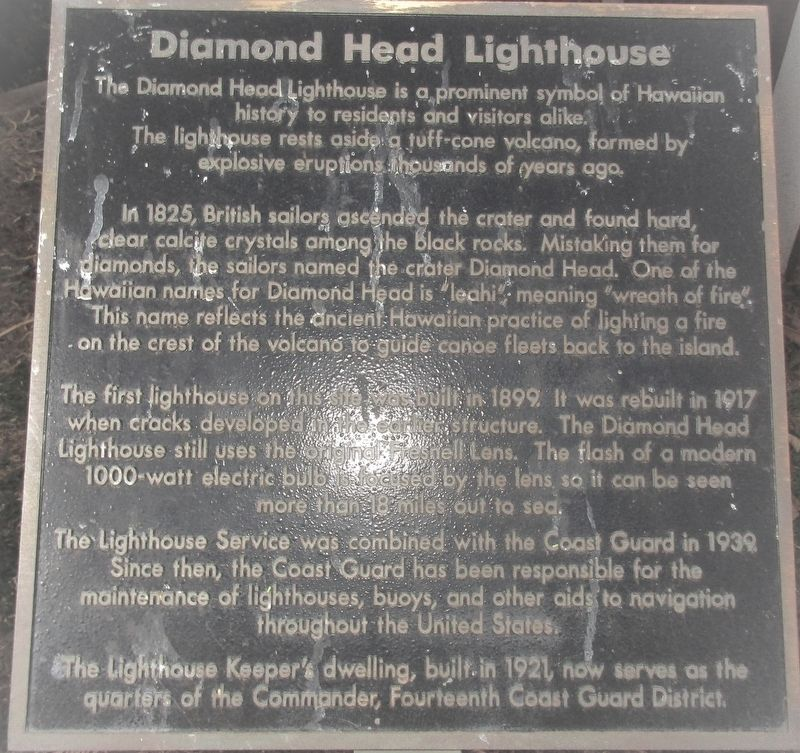Diamond Head Lighthouse Marker image. Click for full size.