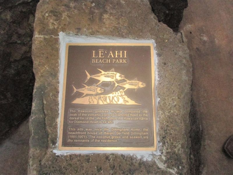 Le'Ahi Beach Park Marker image. Click for full size.